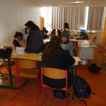 atelier d'écriture avec Cathy, making off © Patrice
