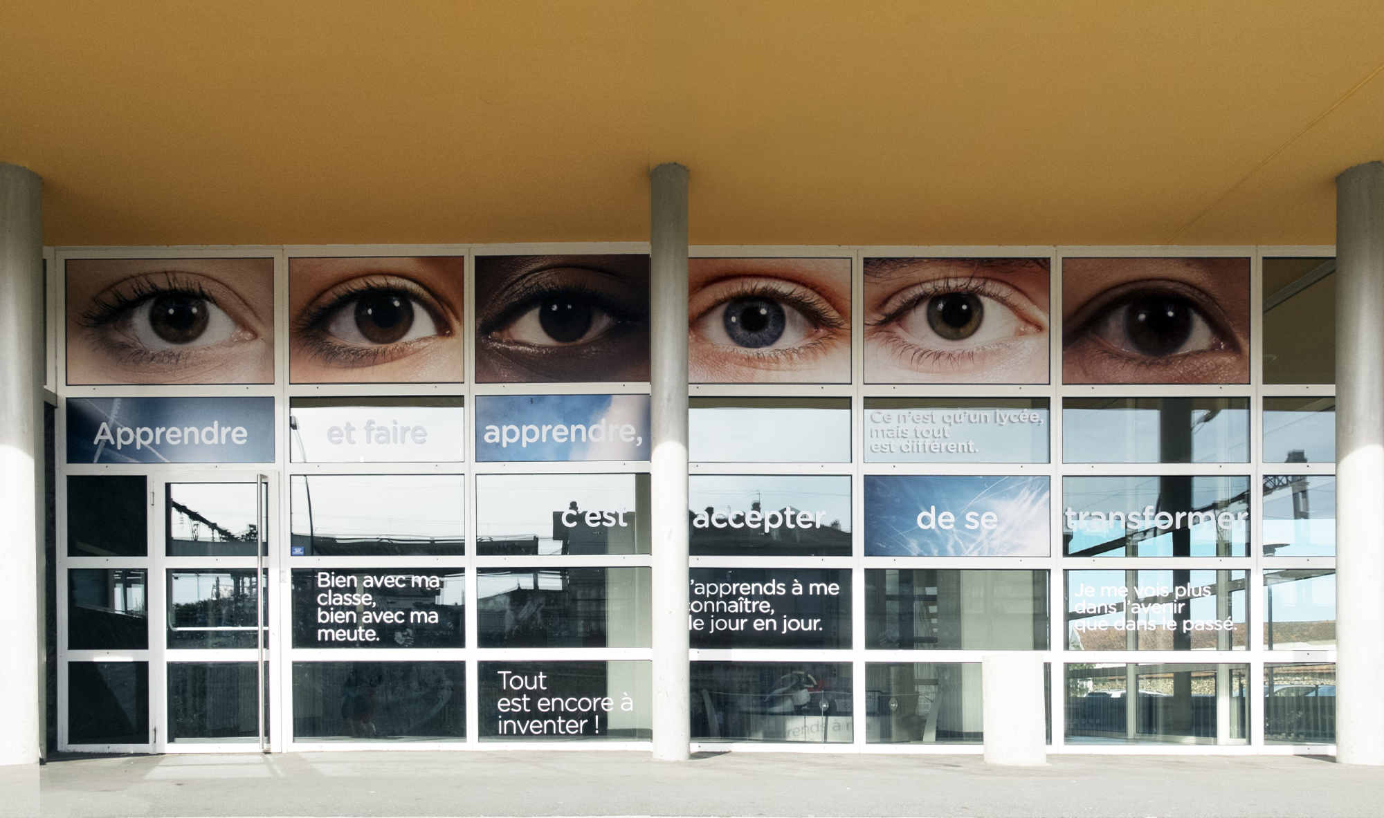 Nouvelle façade du ML, wide open eyes!